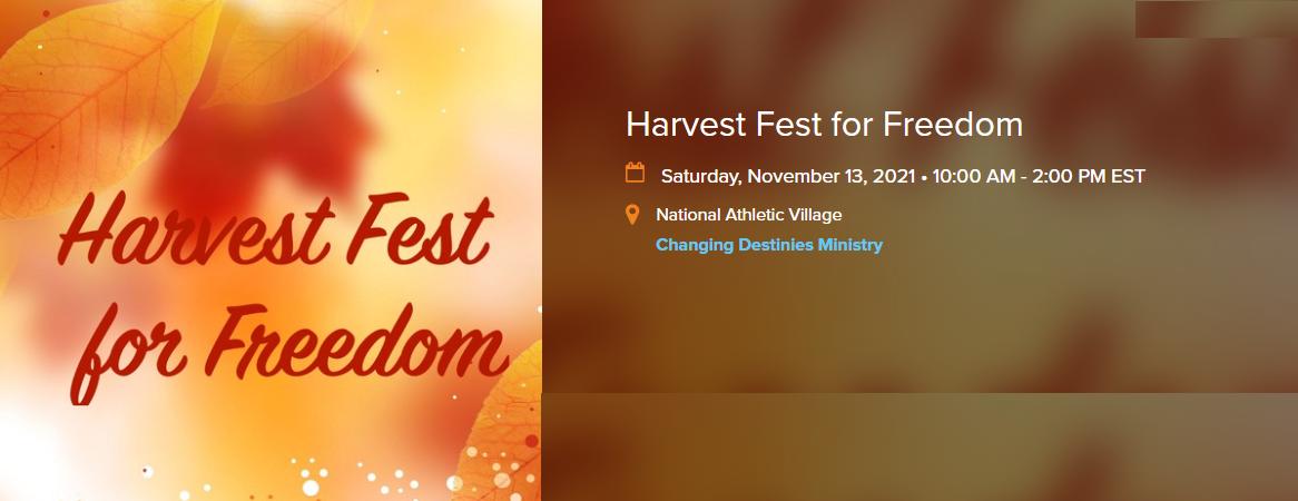 Harvest Fest for Freedom @ National Athletic Village